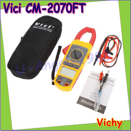 Wholesale 1pcs Vici VICHY CM-2070FT Auto Range Digital AC Clamp Meter w/Temperature Capacitance Frequency &amp; NCV Test<br><br>Aliexpress