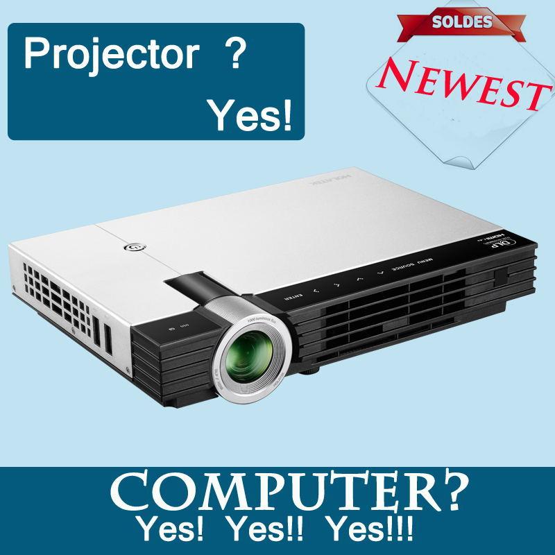 LED Internet smart windows 7 WIFI 2500:1 3D DLP 1920*1080p mini projector! - home theatre store