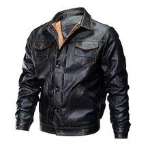 Mountainskin erkekler için kış ceketleri Kalınlaşmak Polar Moda Mont Askeri Sıcak Mont Rüzgar Geçirmez PU Bombacı Ceket Erkekler Marka LA622(China)