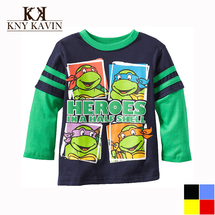Multicolors Colors 3 8 Year Boys Ninja Turtles T shirt Children Spring And Summer Cotton Long
