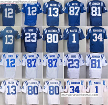 Cheap 12 Andrew Luck Jersey 23 Frank Gore 81 Andre Johnson 87 1 Pat McAfee 13 T.Y. Hilton 34 Josh Robinson 80 Coby Fleener(China (Mainland))