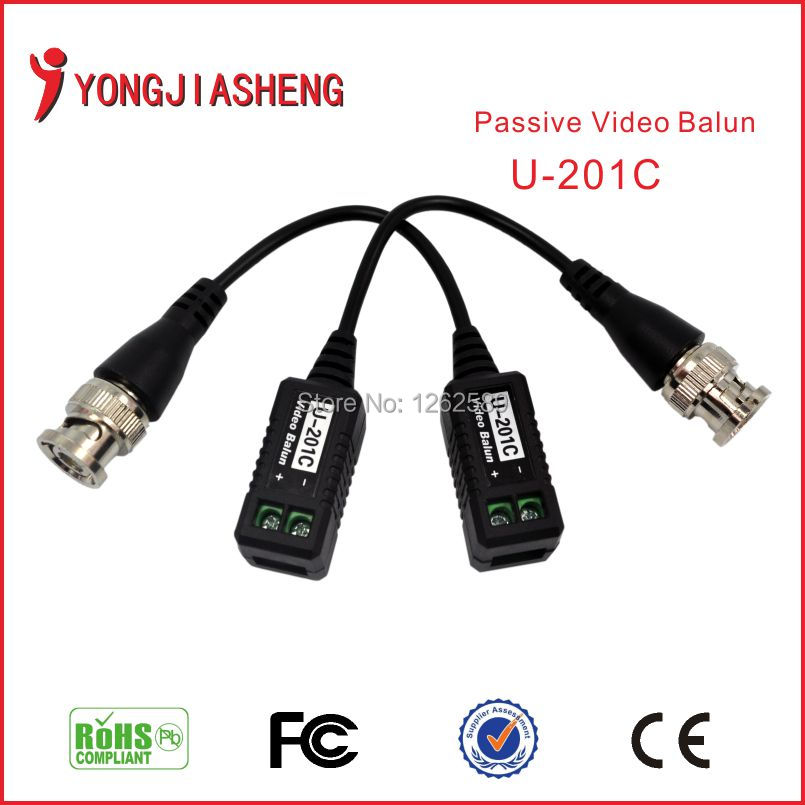 CCTV camera BNC UTP Security Twisted Passive Video Balun Transivers/connector cctv balun video Transmitter accessories 10PCS(China (Mainland))