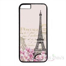 For iphone 4/4s 5/5s 5c SE 6/6s plus ipod touch 4/5/6 back skins mobile cellphone cases cover Retro Postcard Paris Eiffel Tower