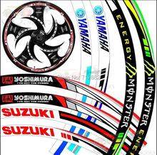 "17''-19"" Big Brand Wheel The flame Reflective Car Motorcycle Rim Sticker,motoycycle car wheel tire sticker Reflective rim tape(China (Mainland))"