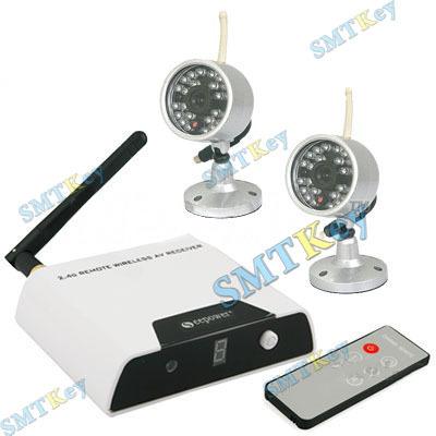 4CH 2.4GHz Security Wireless Camera System 2PCS Wireless Camer(China (Mainland))