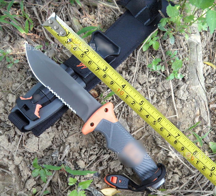 Half Saw Full Blade Famous Camping Diving Knife AUS 8A Blade High strength ABS slip