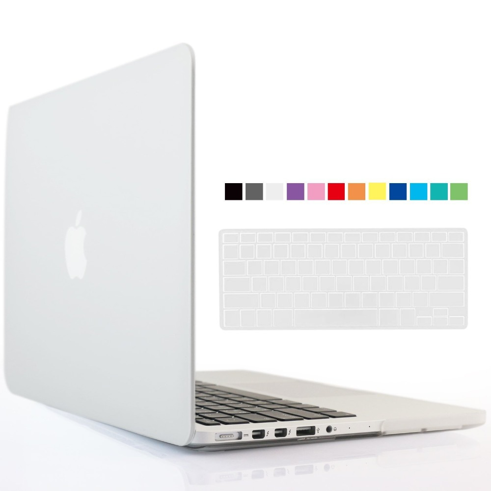 Transparent clear Case For Macbook Air Pro Retina 11 12 13 15 with Silicone Keyboard Cover