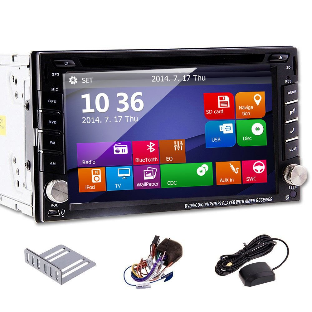 New 6.2'' Touch Screen GPS Navigation Car DVD CD mp3 mp4 Player bluetooth double 2 DIN Car Radio Stereo USB/SD/ipod Car audio(China (Mainland))