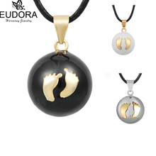Harmony Bola Mexican Ball Cute Footprint Chime Balls Pregnancy Belly Bola Pendant Baby Angel Caller For Pregnant Women Jewelry(China (Mainland))