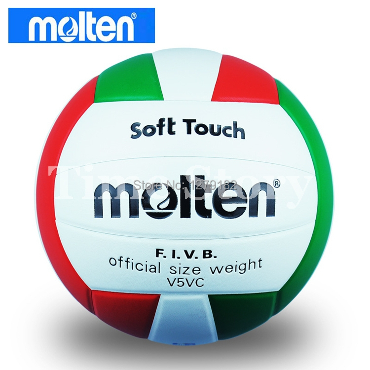 Free Shipping Brand New Molten Official Weight Size 5 PU Volleyball High Quality Ball Soft Touch V5VC Balloon Volleyball Balls(China (Mainland))