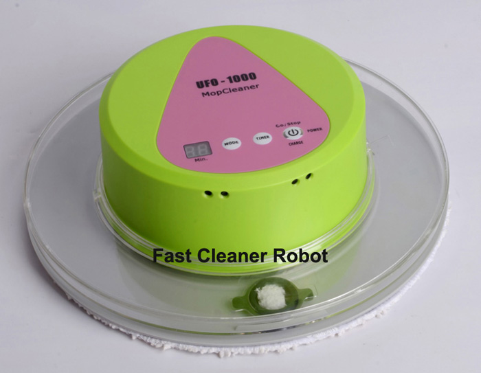 (Free To Russia) Newest Mini Automatic Floor Wet and Dry Mop Cleaner Robot With 247ml Water Tank(China (Mainland))
