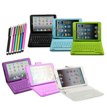 For soft 3d iPad mini case Wireless Bluetooth Keyboard PU Leather Stand Case Cover For iPad Mini 1 2 3 4 + Free Stylus Pen(China (Mainland))