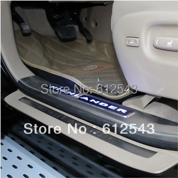 ! Toyota Highlander 2008 2009 2010 2011 car styling illuminated LED Door Sill Scuff Plate protector cover - Enjoy life-Sundy store