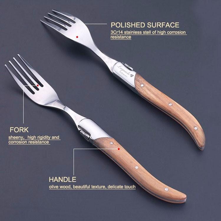 Buy 6Pcs/set Stainless Steel Mirror Polish Tableware Cutlery Meal Spoon Steak Knife Fork Kit Set Flatware Non-Slip Suits Dinnerware cheap