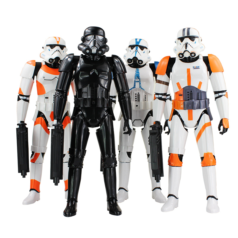 Retail Big Size 46cm Star Wars Darth Vader Stormtrooper PVC Action Figure Collection Model Toy Great Birthday Gift - Godzone store