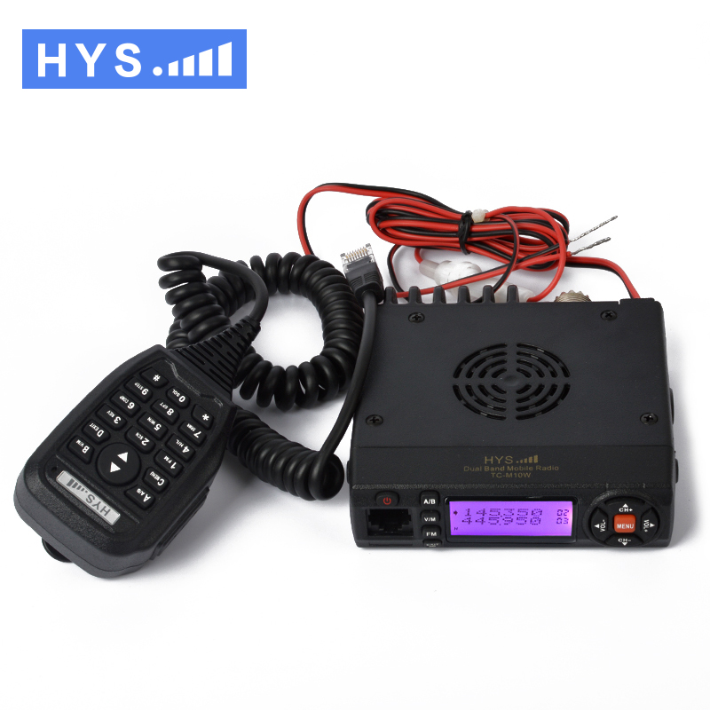 136-174/400-490MHz Dual Band VHF UHF Mini Mobile Radio Transceiver with USB Programming Cable(China (Mainland))
