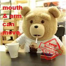 """Original movie size 24""""ted bear,talking and arm swing teddy bear plush toy,Birthday/Christmas Gift,movie sound,free shipping(China (Mainland))"""
