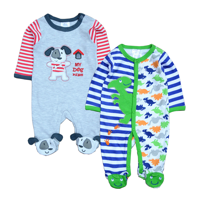 2Pcs/Lot Newborn Baby Girl Clothes Baby rompers One-piece Jumpsuit Kids Sleepwear & Pajamas Bebes Infant Clothing(China (Mainland))