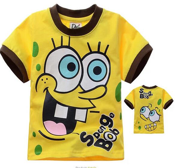 2015 New Design T shirt Boys Kids Short Sleeve Tops T-shirt Tees 100%Cotton