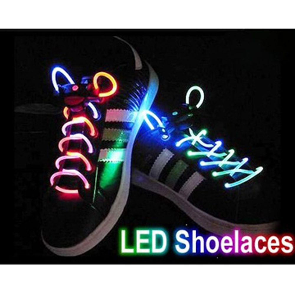 SZS Hot Cool Shine Hip-hop Dancing Led Light Up Flashing Glowing Shoelaces Shoestrings flash for Boys Girls Kids Party Sport(China (Mainland))