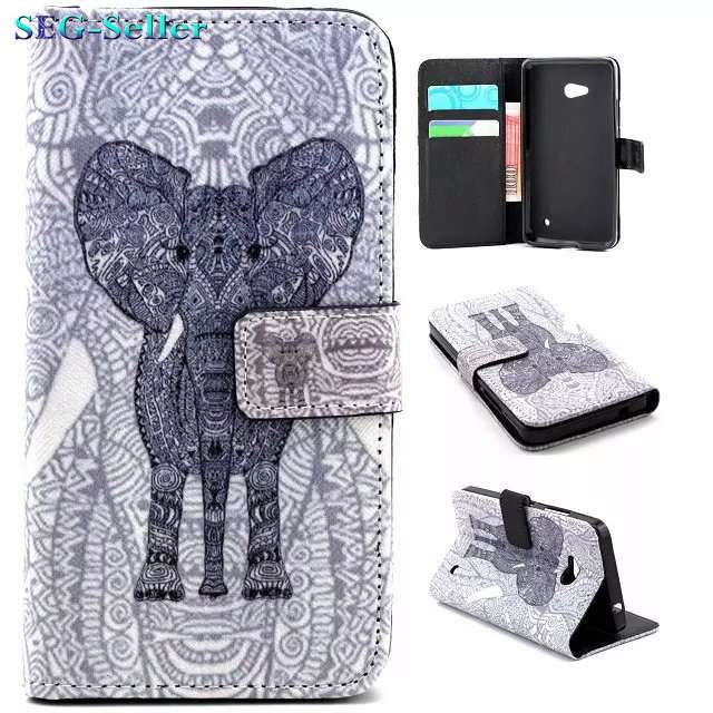Fashion Flying House Leather Cover For Nokia Lumia 640 Wallet Phone Case For Nokia 640 N640 Flip Stand Bag Card Holder SJ5205(China (Mainland))