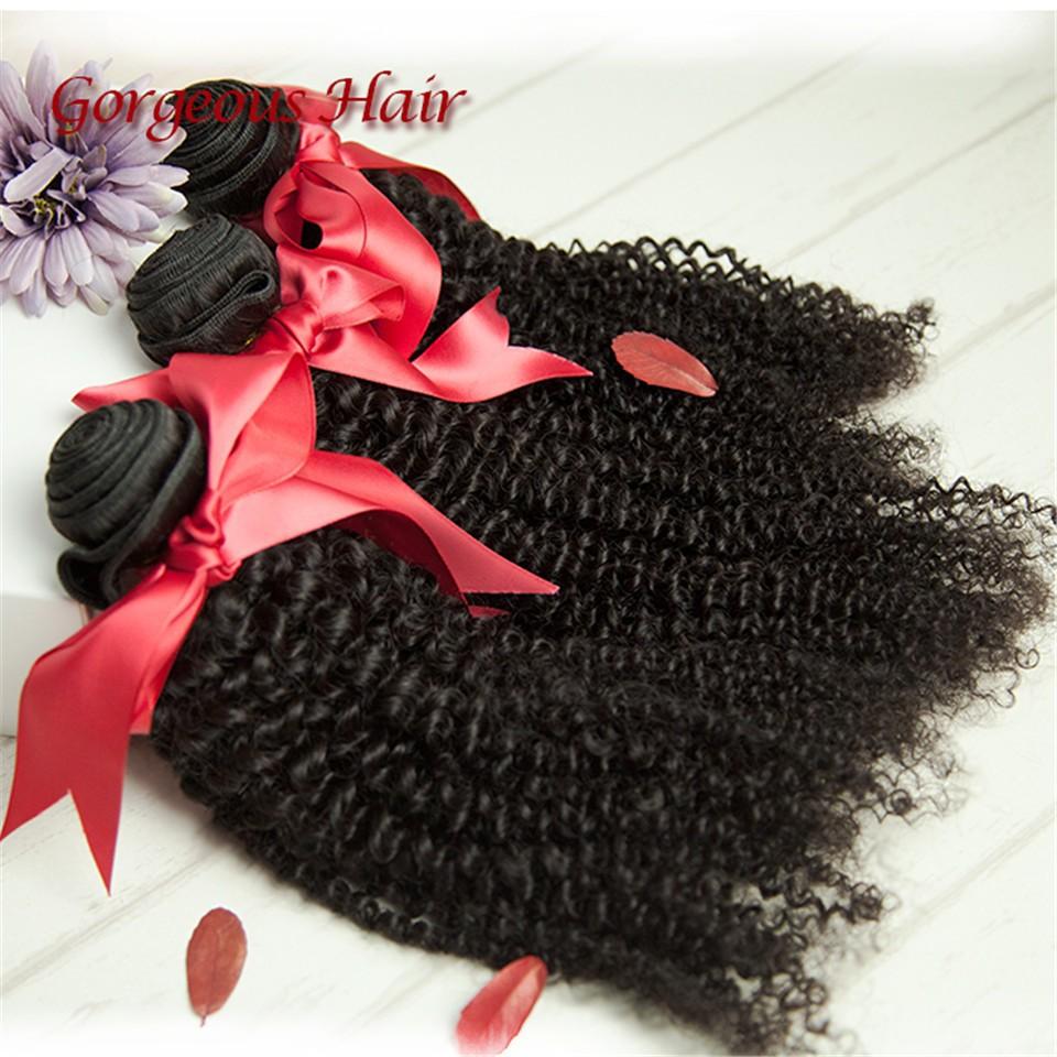 6A Brazilian Virgin Hair 4pcs Kinky Curly Virgin Hair Tangle Free Cheap Human Hair 8-30 Brazilian Hair Weave Bundles Free Ship(China (Mainland))