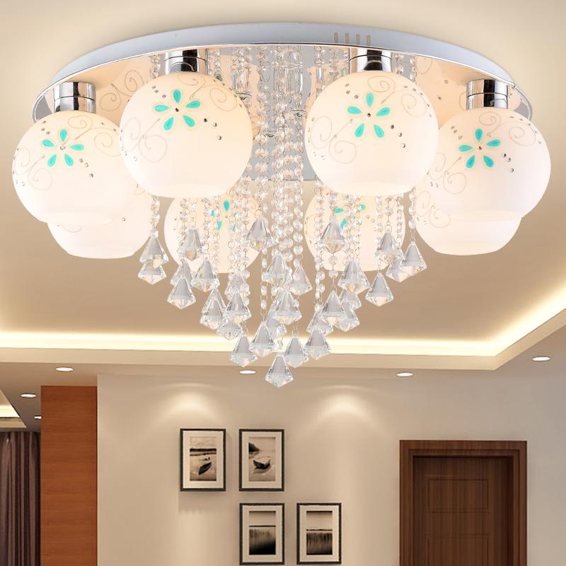 Luxury Crystal Led Ceiling Lights Restaurant Aisle Living Room Bedroom Lamp Modern Lighting For Home Decoration Adjustable Light<br><br>Aliexpress