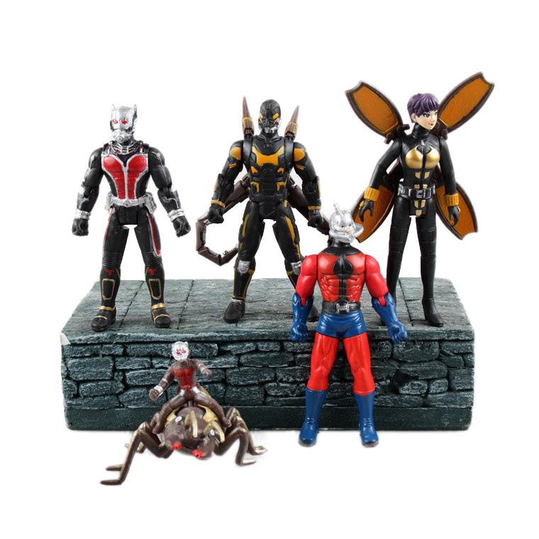 5pcs/set 2015 Marvel Super Hero Ant-Man Movie Toys 12CM PVC Ant Man Action Figure Collectible Toys Set(China (Mainland))