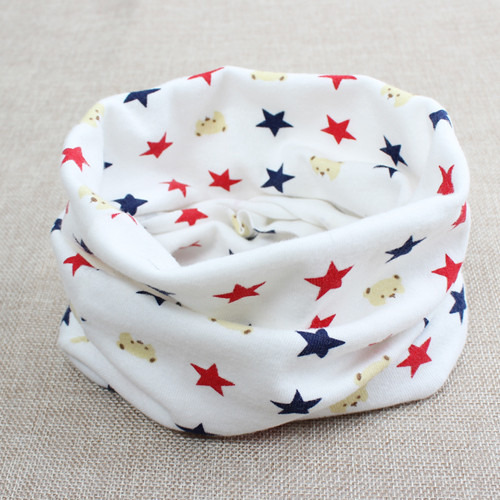 children s scarf 2016 new fashion outdoor cotton dot star dog print warm magic ring Scarves