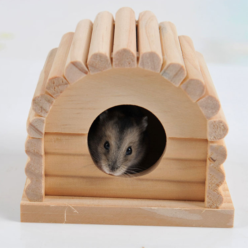 2016 Hamster Wooden Cage Totoro Rabbit Castle Pet Chinchilla Nest Cage Accessory(China (Mainland))