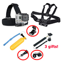 10PCS/LOT Gopro Accessories Floating Bobber Handle Handheld Stick For Hero 5 4 3+ 3 SJCAM XIAOMI YI 2 4K Eken Action Camera