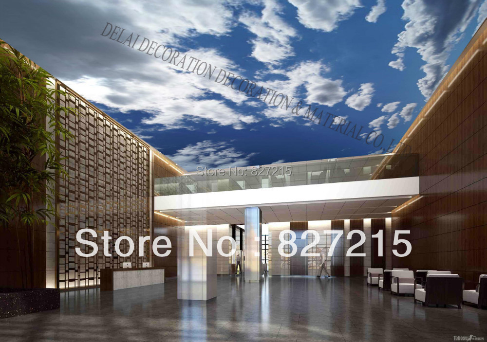 S-1068/ Blue Sky /Print Ceiling tiles /PVC Stretched Ceiling Film/Home or Ceiling Decoration/Function as Ceiling Panel(China (Mainland))