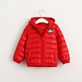 Male female children Winter cartoon hooded down jacket kids thin long sleeve down snowsuit coat