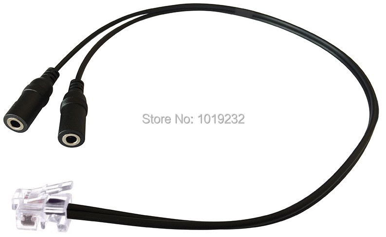 PC headset to RJ9 plug for CISCO phone 6920 6940 7940 7941 7960 7961 7971 8940 8960 8961 Cable Adapter Dual 3.5MM Headset(China (Mainland))