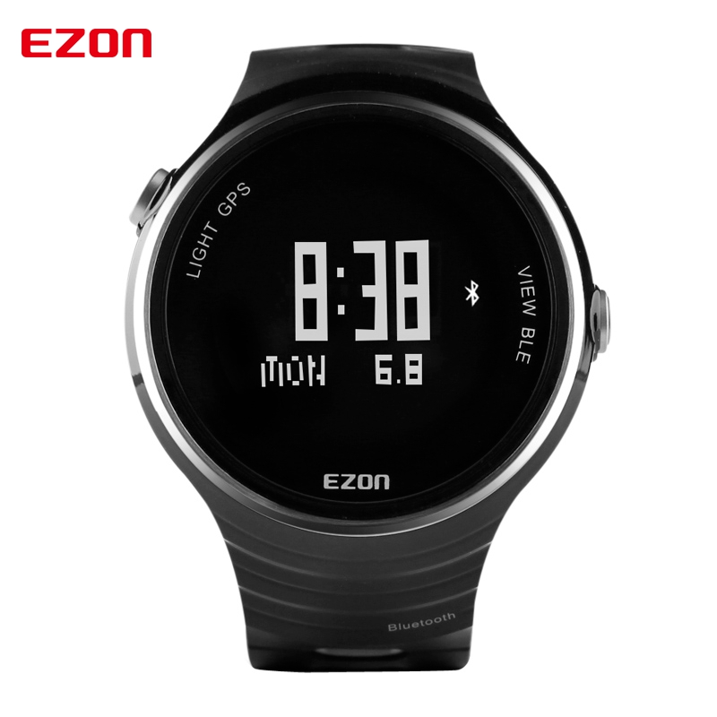 EZON sports outdoor table intelligent wearable device Bluetooth Watch Men's Black Digital WristwatchesG1A01 table runners(China (Mainland))