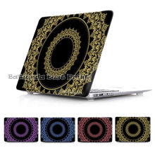 Circle Damask Russia Pattern Case For Macbook Air 11 13 pro retina 13 15 Cover New macbook 12 Laptop Sleeve Free Keyboard Cover(China (Mainland))
