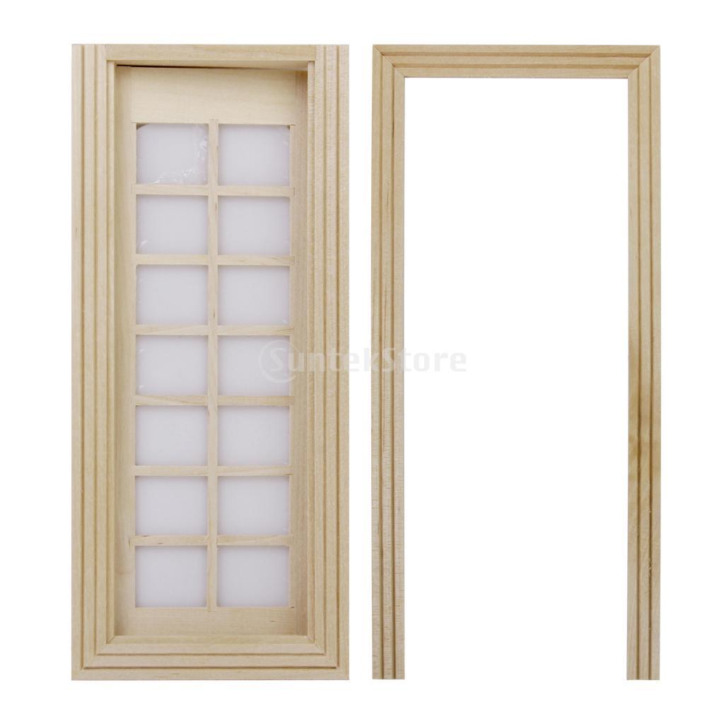 New arrivals 2015 dollhouse wooden door miniature for 14 door