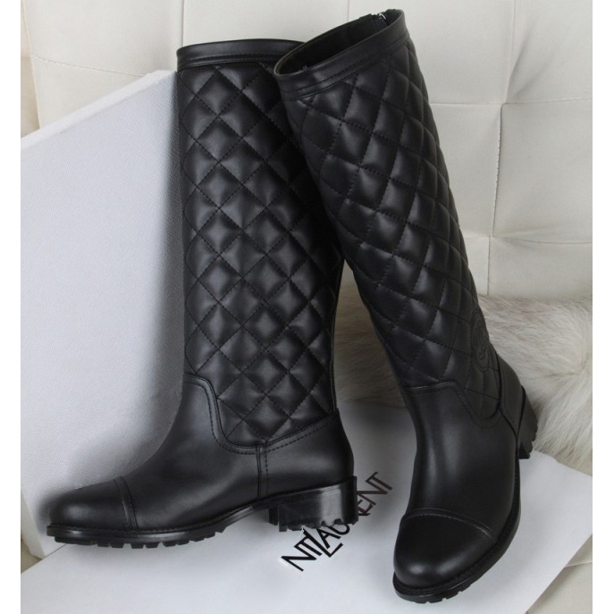 Womens Black Long Boots - Yu Boots