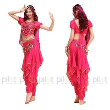 2015 NEW Arrival Oriental Dance Costumes Bollywood Indian Dress 4PCS Belly Dance Vestido Suit For Women 6 Colors