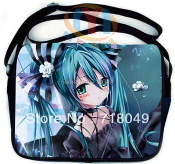 Free Shipping Anime Vocaloid Hatsune Miku Messenger Shoulder School Bag 16 Style Optional 28*35CM
