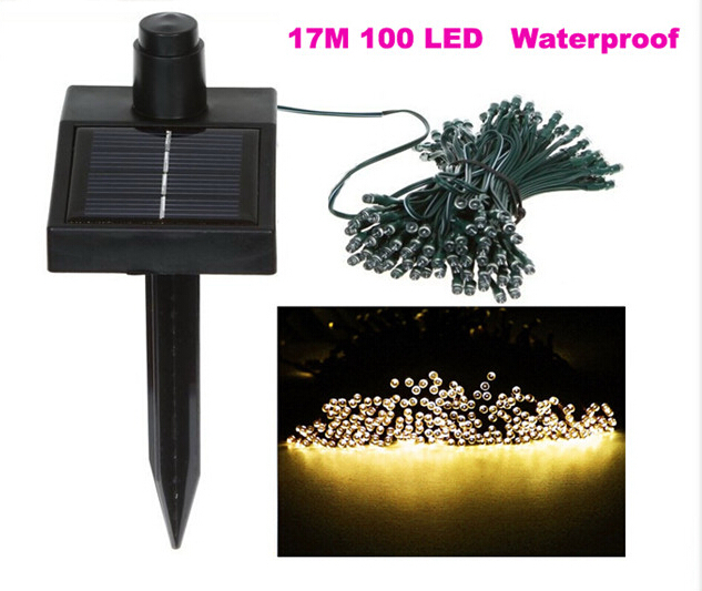 200 rgb led solar christmas string lights outdoor lamp garden light