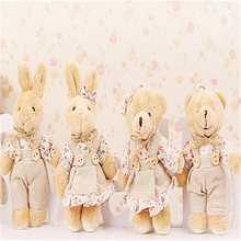 "12cm 5""  Kawaii Teddy Bear Plush Toy  Mini Plush Doll Stuffed Animals Rabbit Small Pendant for Christmas gifts Wholesale A35(China (Mainland))"