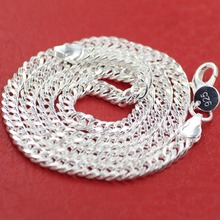 Buy wholesale silver 5mm wide Men's Necklace 20inch Free shipping, silver plated men chain necklace,FASHION JEWELRY 20inch for $2.94 in AliExpress store