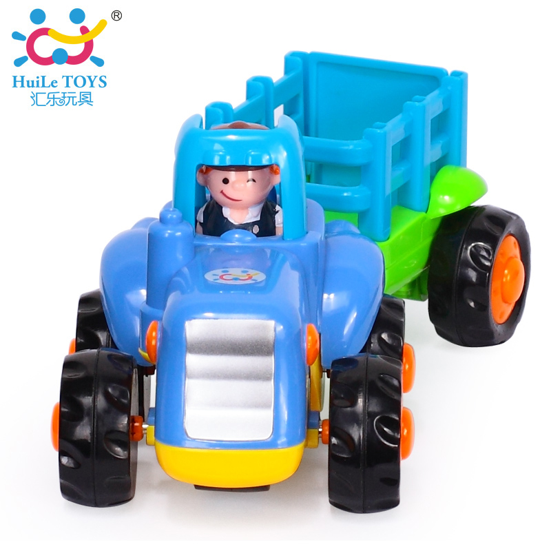 2016 New Arrival Engineering Car Models Farm Tractor With Wagon Truck Baby Toy Cars Classic Toys For Boy Children Xmas Gifts(China (Mainland))