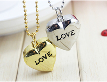 2016 New Love Heart to you Bronze Necklace Chain Pocket Watch With Diamand Chain Gift free shipping(China (Mainland))