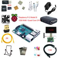 Raspberry Pi 2 Model B 1GB RAM Kit Wifi+HDMI+8GB TF Card+Case+Fan+7″LCD+Rii i8+