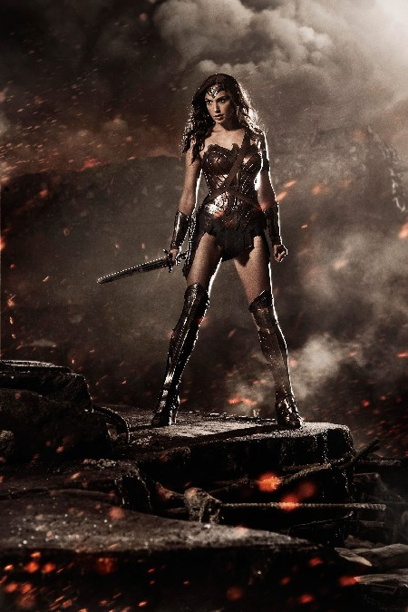 Batman vs Superman-Dawn of Justice Wonder Woman Gal Gadot Movie poster Fabric Silk Poster For Home Decoration(China (Mainland))