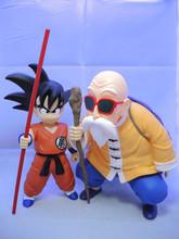 Anime Dragon Ball Z Son Goku Gokou Master Roshi Kame Sennin PVC Action Figure Collectible Model toys 2pcs/set 22cm Brinquedos