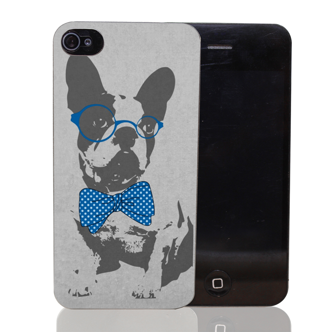 1523T Cute Funny Trendy Vintage Animal French Bulldog Hard Transparent Clear Case for iPhone 4 4s 5 5s SE 5c 6 6s & Plus(China (Mainland))