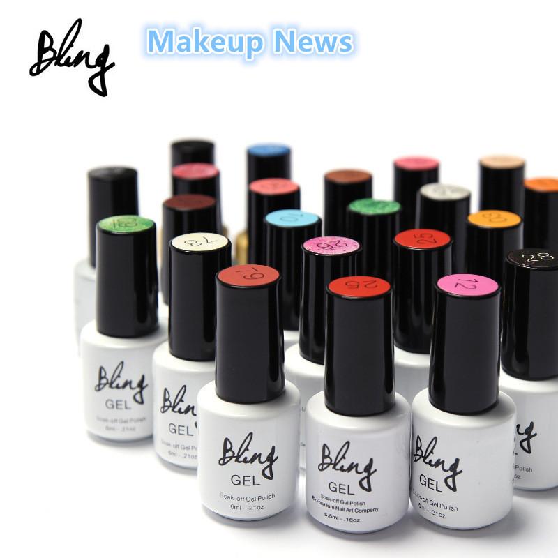 1pcs Colors Fashion Bling 6ml Soak Off UV Gel Nail Gel Polish Cosmetics Nail Art Manicure Nails Gel Professional Kit UV LED Lamp